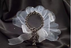 Gümüş Renkli Çiçekli Ayna NS10