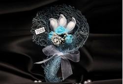 Mavi Çiçekli Nikah Şekeri NS61