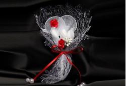 Kırmızı Çiçekli Nikah Şekeri NS62