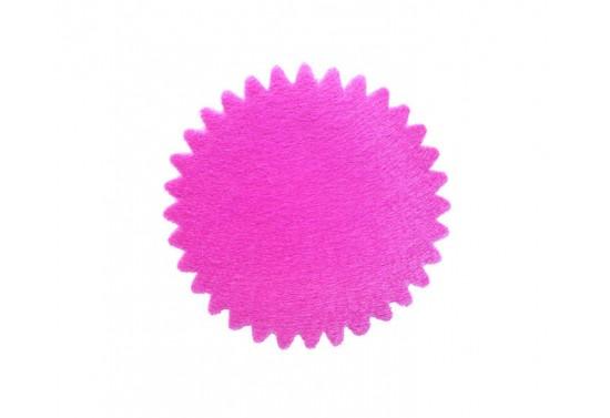 Organze Yuvarlak Tül Fileli Fuşya Renk 22 Cm