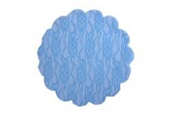 Dantel Desenli Tül 22 Cm 100'lü Mavi