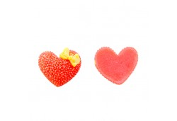İnci Kalp Sticker Plastik Kırmızı 100'lü