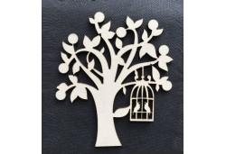 Lazer Kesim Ahşap Ağaç Figür 3mm 10'lu