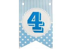 Flama Bayrak 4 Rakamı Mavi Renkli 10'lu