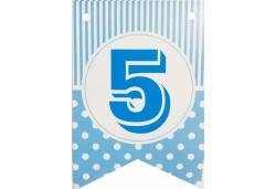 Flama Bayrak 5 Rakamı Mavi 10'lu