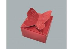 Kelebekli Karton Kına Kutusu 100'lü