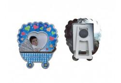 Çerçeve Puset Hoşgeldin Bebek Plastik Mavi 1 Adet