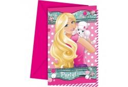 Davetiye Barbie Elegant 6'lı