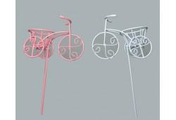 Tel Bisiklet Çubuklu Sepetli Pembe