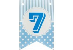 Flama Bayrak 7 Rakamı Mavi 10'lu