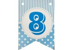Flama Bayrak 8 Rakamı Mavi 10'lu