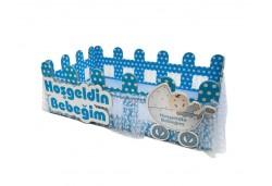 Çitli Kutu Bebek Şekeri Sepeti Mavi 1 Adet
