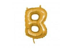 B Harfi Folyo Balon 40inc Altın Renkli
