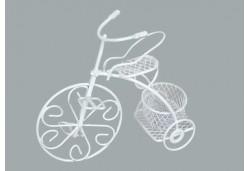 Bisiklet Tel Sepetli Beyaz 1 Adet