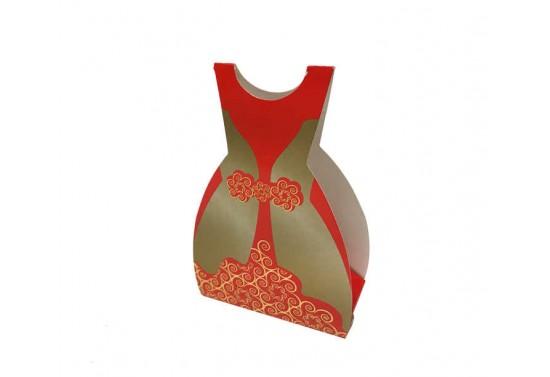 Kına Kartonu Bindallı Modeli Kırmızı 50'li