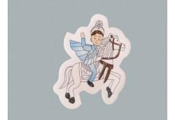 Sticker Sünnet Çocuğu Atlı Yeni 50'li