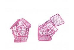 Kuş Kafesi Ev Modeli Pembe