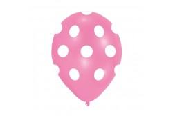 Balon Beyaz Puantiyeli Pembe 100'lü