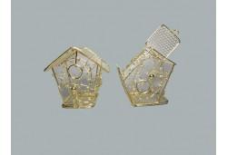 Kuş Kafesi Ev Modeli Altın