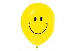 Balon Gülen Yüz Baskılı Sarı 100'lü