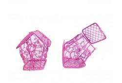 Kuş Kafesi Ev Modeli Fuşya
