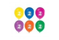 Balon Hapy Birthday 2 Yaş Baskılı 100'lü