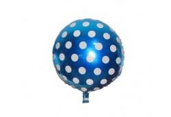 Folyo Balon Puantiyeli Mavi 10'lu