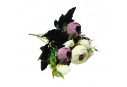 Çiçek El Buketi Şakayık Modeli Lila