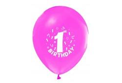 Balon Hapy Birthday 1 Yaş Pembe 100'lü