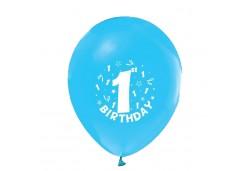 Balon Hapy Birthday 1 Yaş Mavi  100'lü