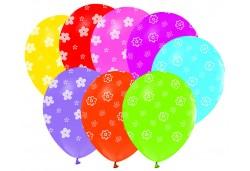 Balon Papatya Baskılı Karışık Renk 100'lü