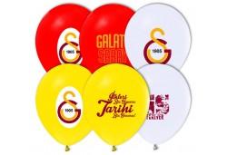BALON 4+1 GALATASARAY PASTEL RENK 100 ADET  - BE1171