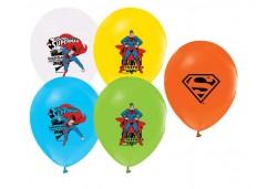 BALON 4+1 SUPERMAN BASKILI PASTEL RENK 100 ADET  - BE02
