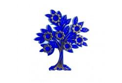 Ağaç Çiçekli Yapraklı Plastik Lacivert 10'lu
