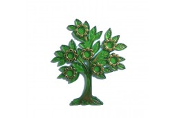 Ağaç Çiçekli Yapraklı Plastik Yeşil 10'lu