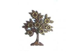 Ağaç Çiçekli Yapraklı Plastik Kahverengi 10'lu