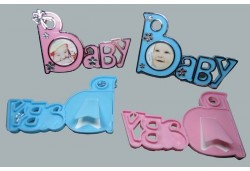 Çerçeve Baby Yazılı Pembe