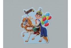 Sticker Sünnet Çocuğu Atlu Balonlu 50'li