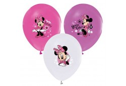 BALON 4+1 MINNIE BASKILI PASTEL 100 ADET  - BE1701