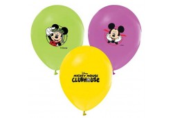BALON 4+1 MICKEY MOUSE BASKILI PASTEL 100 ADET  - BE168