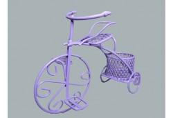 Bisiklet Tel Sepetli Lila