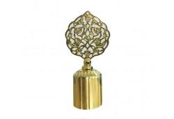 Şişe Kapağı Metal Çiçekli Yuvarlak 2,5cm Altın 10'lu
