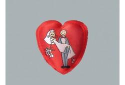 Kalpli Keçe Gelin Damat Resimli Yarım 10'lu
