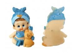 Bebek Biblosu Fiyonklu Ayıcıkı Mavi 1 Adet
