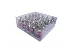 Biberon Gümüşe Pembe Süslü Plastik 1 Adet
