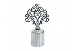 Şişe Kapağı Metal Ağaç Motifli 2,5cm Gümüş 10'lu