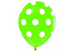 Balon Beyaz Puantiyeli Açık Yeşil 100'lü