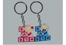 Anahtarlık Bebek Baby Yazılı Mavi