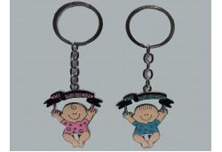 Anahtarlık Bebek Baby Shower Pembe