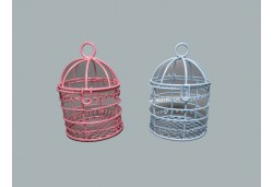 Metal Kuş Kafesi Pembe